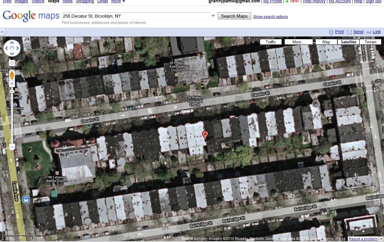 Weeks To Better Genealogy Challenge Granny Pam - Satellite street view