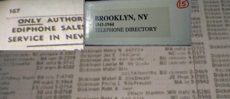 dickinson mable 1943-4 brooklyn ny phone book