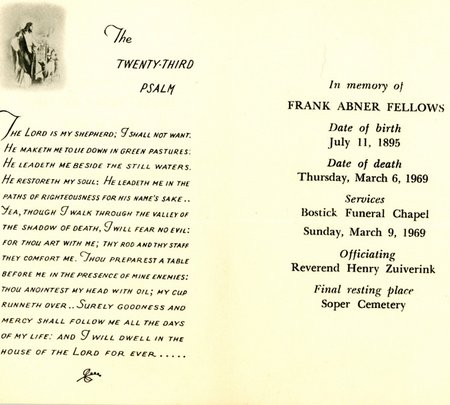 fellows frank memorial card